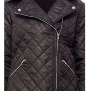 Peptrends Zipper Quilted Black Jacket-4306