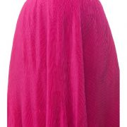 Peptrends Magenta Pleated Short Skirt-4452