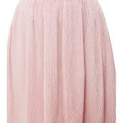 Peptrends Pink Pleated Short Skirt-4447