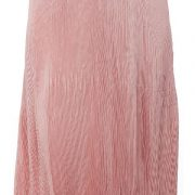 Peptrends Pink Pleated Long Skirt-4432