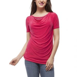 Peptrends Magenta Beaded Top-0