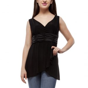 Peptrends Black Surplice Top-0