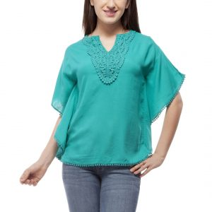 Peptrends Green Kaftan Top-0