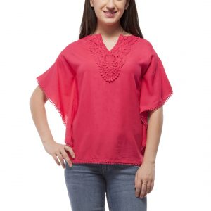 Peptrends Magenta Kaftan Top-0
