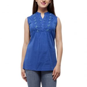 Peptrends Blue Lace Top-0