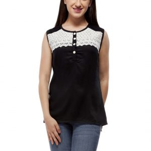 Peptrends Black Lace Top-0