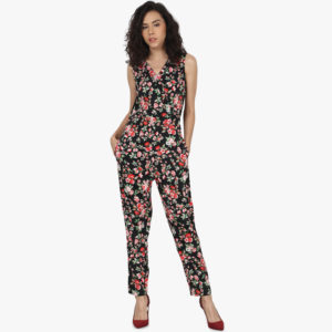 e233161f96b Peptrends Black Floral Jumpsuit